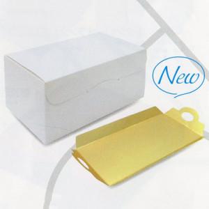 サイドオープン6寸(ホワイト)、金台紙