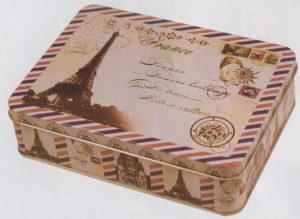 BOX化粧缶 エッフェル塔レター