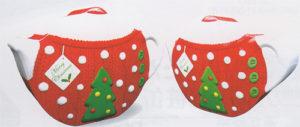 シルバークレーンクリスマスティーポットレッド