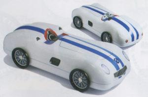 シルバークレーンブルーストライプカー化粧缶